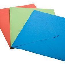 Colored Handmade Paper Envelopes