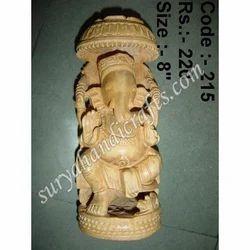 Wooden Chatri Ganesh