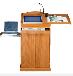 Wooden Digital Lectern/ Rostrum