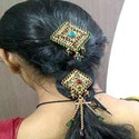 indian designer hair jewelry brooch