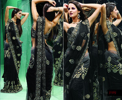 Indian Lehariya Print Saree