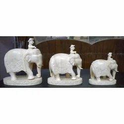 Bone Elephant Statue