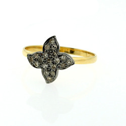 Diamond Flower Rings