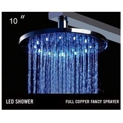 Fancy Copper LED Overhead Showers