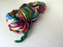 Multicolored Sari Silk Ribbons