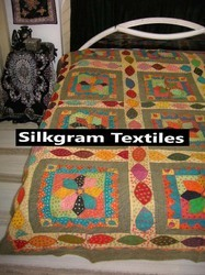 Mixed Coloured Bed Cover