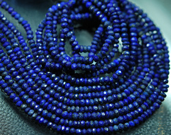 Lapis Lazuli Faceted Round Rondelles Briolettes