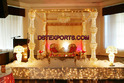 Wedding Gold Crystal Mandap