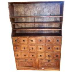 Dresser with Top Shelfs & 18 Short or 2 Long Drawers at Base