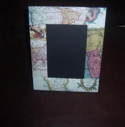 Old Look, Map Print Handmade Paper Photo Frames
