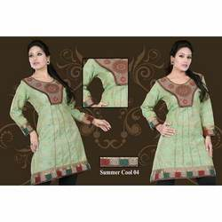 Embroidered Patch Work Kurtis