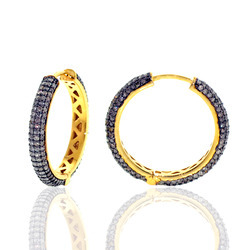 Wholesale Diamond Hoop Earrings