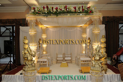 Latest Wedding Golden Crystal Mandap