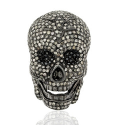 Pave Diamond Skull Beads