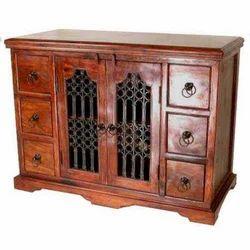 6 Drawers Iron Mesh Door Cabinet