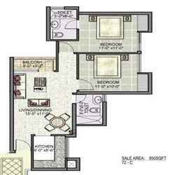 2 Bhk Floor Plan (layout - Type A )