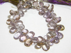 Ametrine+Faceted+Pear+Briolettes