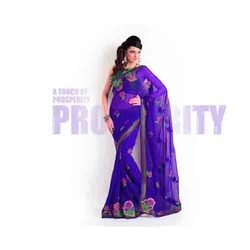 Bright Purple Designer Saree