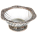 designer metal bowl white metal bowl