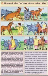 Horse & Buffalo For Moral Story Chart