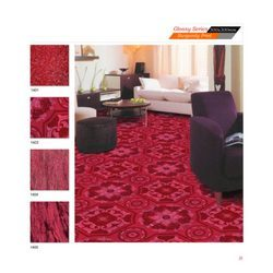 Glossy Series - Burgundy Print Tiles