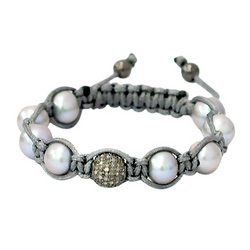 Natural Pearl Macrame Bracelet Jewelry