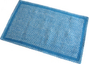 Chenille Aqua Rug (Barided)