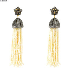 Vintage Natural Pearl Tassel Earrings