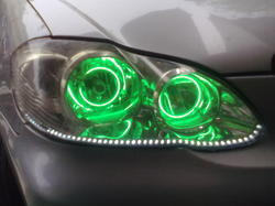 Corolla Car Headlight With Green Angel Light