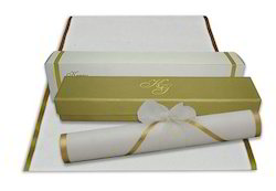 Boxed Scroll Blank Invitations