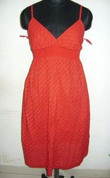 Casual Red Color Evening Dress