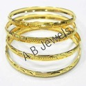 Plain Gold Bangles Sets