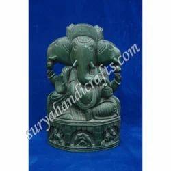 Wooden Painting Face Ganesha