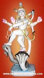 White Marble Dancing Shiva