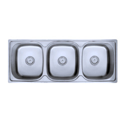 Triple Bowl SS Kitchen Sinks