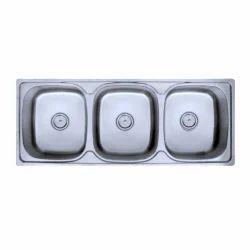 Triple Bowl SS Kitchen Sinks