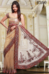 Mehroon Designer Saree