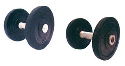 Gym Dumbells With Rubber Plates