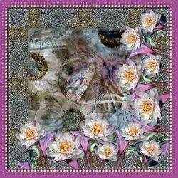 Digital Floral Printed Scarves