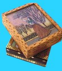 Decorative Gemstone Painting and Jewellery Box