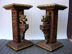 Handcrafted Wooden Pillar