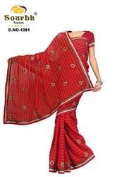 Georgette Saree With Embroidery (1281)