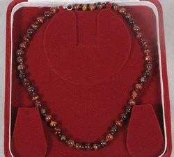 Tiger Eye Round Beads (Brown) Necklace