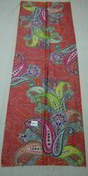 Pure Silk Kashmir Scarf With Paisley Digital Print