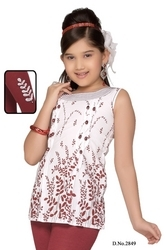 Designer Wear Kids Kurtis