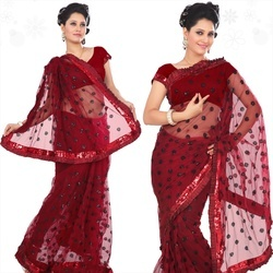 Ladies Red Design Sarees