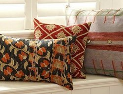Antique Kantha Quilt Pillow
