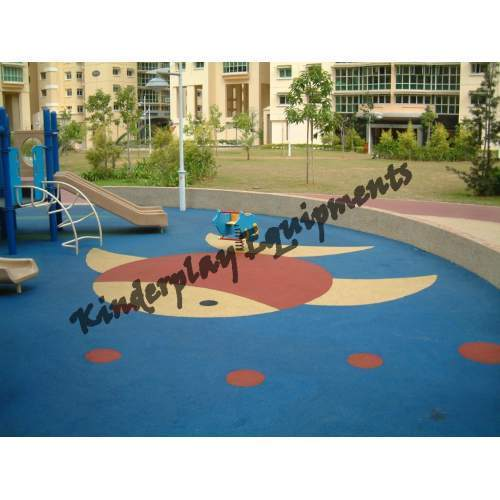 Sports Flooring And Kids Play Area Flooring EPDM Flooring - Spongy outdoor flooring