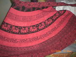 Red and Black Rapron Skirt