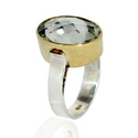 14k Yellow Gold & Sterling Silver Ring